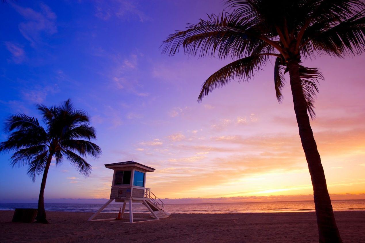 Beach of Fort Lauderdale in Florida