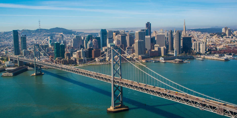San Francisco and the Golden Gate Bridge